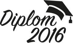 Diploma german 2016 Stock Illustration