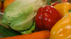 Vegetables close-up cooking. Stock Footage