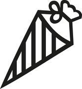 Striped school cone - stock illustration