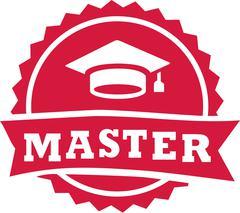 Master stamp 2016 graduation hat - stock illustration