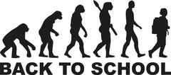 Back to school - pupil evolution Stock Illustration