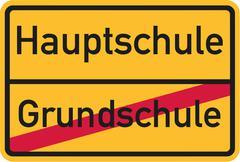 From elementary school to comprehensive school german Stock Illustration