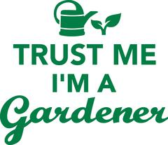Trust me I'm a gardener Stock Illustration