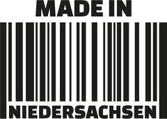 Made in Lower Saxony barcode german Stock Illustration