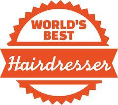 World's best hairdresser Stock Illustration