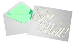 Get Well Soon Wishes Card Note Letter Envelope 3d Illustration Stock Footage