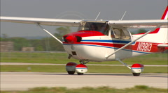 Cessna 172 Taxi In Stock Footage
