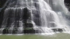 Rising From Base of Epic Waterfall to High Above 001 Stock Footage