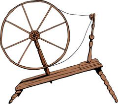 Old Fashioned Spinning Wheel Stock Illustration