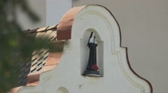 Nun Statue on Church Building - stock footage