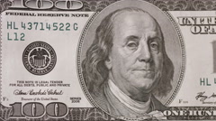 One hundred dollars money close up camera motion. Stock Footage