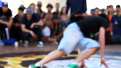 Break dance competition at the festival Stock Footage
