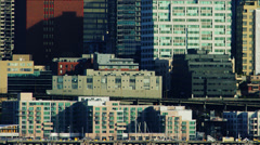 Close up of Alaskan Way Viaduct through downtown Seattle. Stock Footage