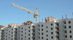 Construction of an apartment residential complex Stock Footage