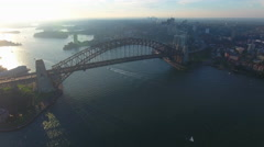 Sydney Australia Flying Towards Opera House 002 Stock Footage