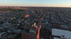Panorama of Downtown Baltimore At Sunrise Stock Footage