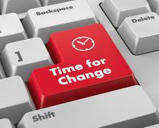 Time for Change - stock illustration