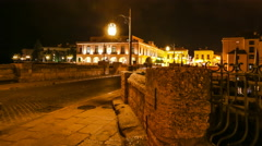 Ronda Spain by night - stock footage