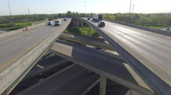 Interstate Mixmaster Spring Day 017 Close Boom Down Tilt Up - stock footage