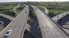 Interstate Mixmaster Spring Day 018 Close Boom Down Tilt Up - stock footage