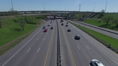 Interstate Spring Day 004 Hover - stock footage