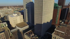 Des Moines Downtown Early Morning 004 Skyline Ascend - stock footage