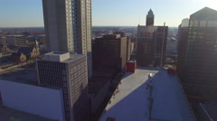Des Moines Downtown Early Morning 005 Wide Orbit Stock Footage