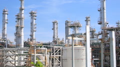 Refinery industrial plant Stock Footage
