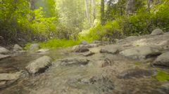 4k UHD Moving Across a rocky stream. - stock footage