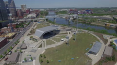 Flying Over Downtown Nashville Amphitheater - stock footage