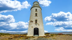 Cape Bruny Lighthouse Stock Footage