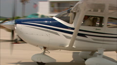 Cessna 182 Taxi Out Stock Footage