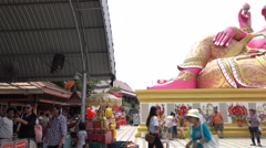 Tourists visiting an Ganesha Stock Footage