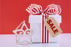 Sales Promotion Gift Box. - stock photo