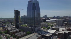 Rising High Over Nashville Skyscraper on Beautiful Day Stock Footage