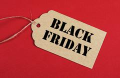 Blaack Friday sale tag - stock photo