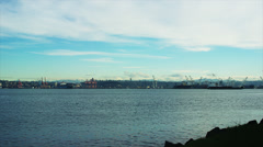 Panoramic view of Seattle skyline, long shot. - stock footage