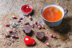 st Valentine Greeting Card - stock photo
