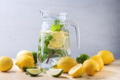 Pitcher of lemonade Stock Photos