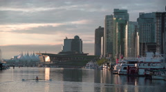 Coal Harbor Morning, Vancouver. 4K UHD Stock Footage