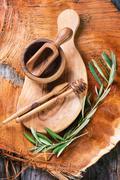 Olive wood kitchen utensil Stock Photos