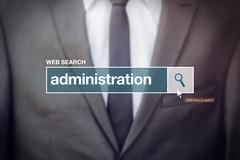 Web search bar glossary term - business administration - stock photo