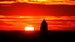 Bagan Nan Myint Tower at dawn, 360 viewing tower of Bagan, Myanmer Stock Footage