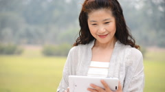 Senior Woman Using Digital Tablet - stock footage