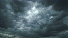 The flow of beautiful rain cloud. Time lapse - stock footage