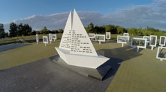 Memorial complex of the former concentraition camp Stock Footage