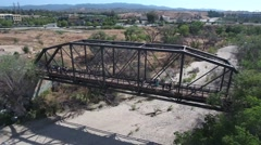 Aerial drone View of bridge Stock Footage