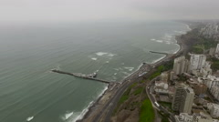 Amazing Miraflores Town landscapes in Lima - stock footage