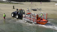 Newquay Lifeboats Training, Newquay, Cornwall, UK - stock footage