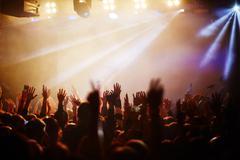 Popular singer concert - stock photo